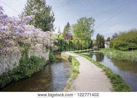 Loose river running through the village of Loose Kent UK