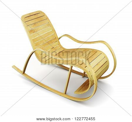Chaise lounge isolated on white background. 3d illustration.