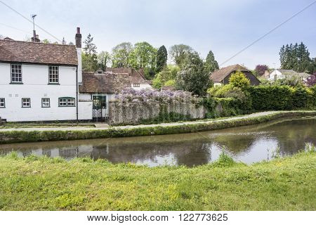 Loose river running through the village of Loose Kent UK