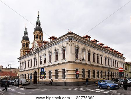 SIBIU, ROMANIA - MARCH 2016: Library House on 08th of March in Sibiu.