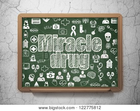 Health concept: Miracle Drug on School Board background