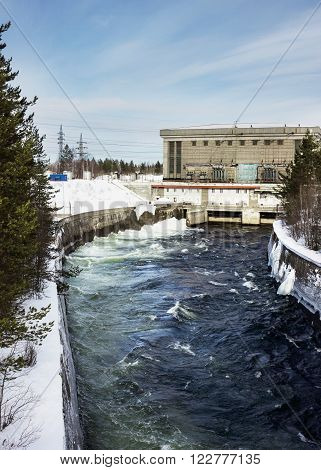 Small hydroelectric power plant in the north of Russia operating since the 50s