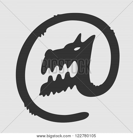 Vector Symbol Dog Postal eps 8 file format