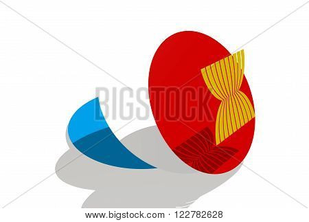 ASEAN - political and economic organization 3D emblem