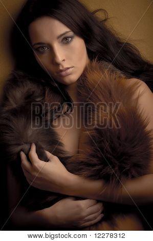Glamour Girl in Boa