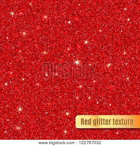 Red glitter texture. Vector illustration EPS 10