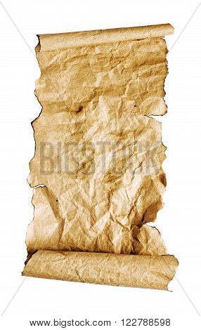 The Ancient Parchment Or Unrolled Scroll