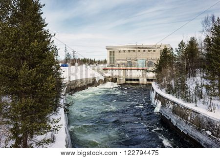 Hydroelectric power plant in the north of Russia operating since the 50s