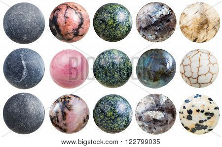 Balls From Shungite, Rhodonite, Labradorite, Etc