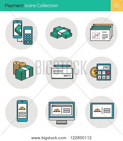 Payment Icons Collection 4. Internet banking, finance, money & mobile payment icons.