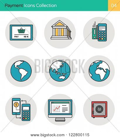 Payment Icons Collection 3. Online payment, global banking, security & mobile payment icons.