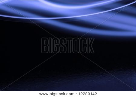 Blue swish on a black background