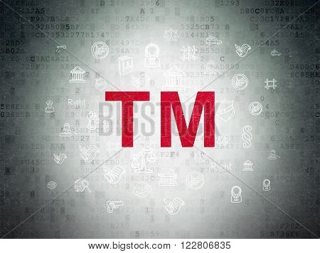 Law concept: Trademark on Digital Paper background