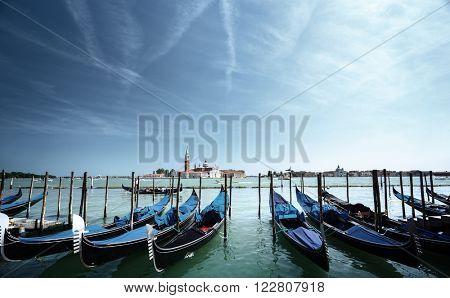 Grand Canal and San Giorgio Maggiore church, Venice, Italy