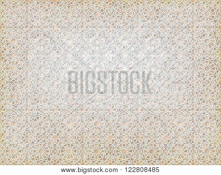 background ancient arabian beige ornament. seamless pattern. pattern generated in computer.vector illustration