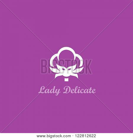 Lady Delicate. Cotton/woman face symbol