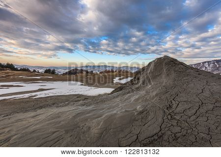 Mud volcanoes with spectaculos clouds from Mud Volcanoes - Buzau Romania