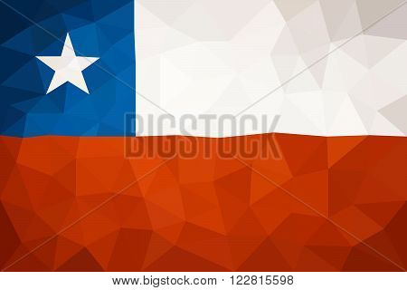 Chili high poly triangulated flag in EPS 8 format