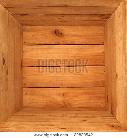 Texture inside a brown wooden box made with tables.