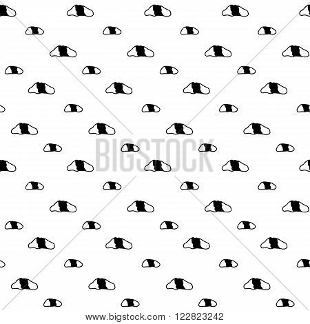 Trendy monochrome cute seamless vector pattern with hand drawn eyes for fabric, cards, invitations, wrapping paper, stationery and web backgrounds. Creative black and white whimsical doodle ornament.