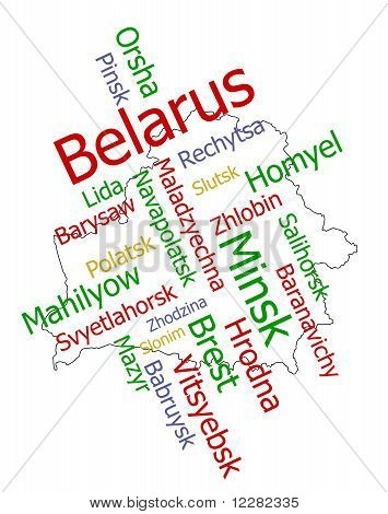 Belarus Map And Cities