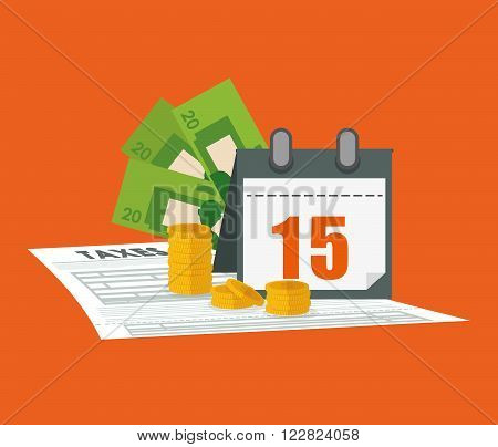 Taxes concept with icon design, vector illustration 10 eps graphic.