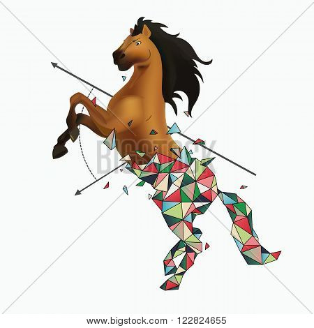 Wild horse lumping from polygonal with explosion effect