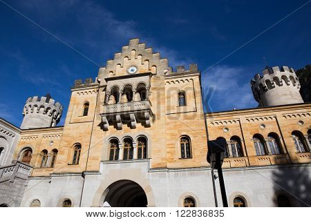 Castle with Blue Sky Schloss Neuschwanstein - Fussen Germany