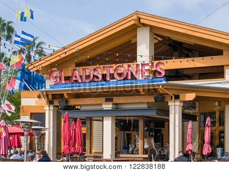 Gladstone's Restaurant Exterior And Sign