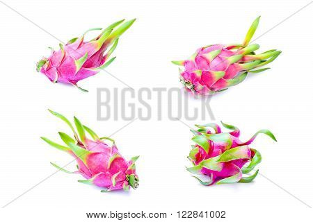 Dragon fruits isolated on a white background