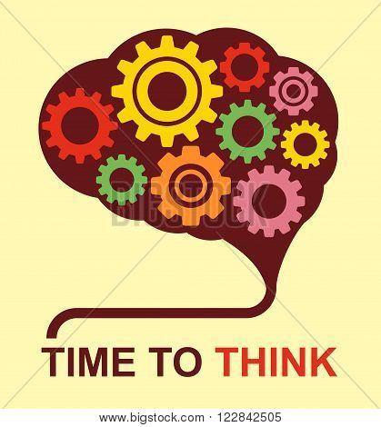 Idea generates in brain conceptual poster and