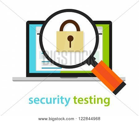 security testing software development process methodology vector
