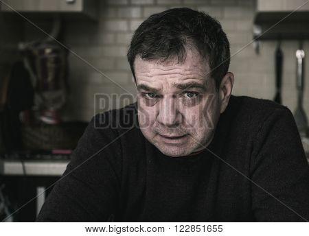 Portrait of middle-aged men.