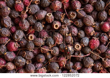 Dried hawthorn fruit. Natural berry beverage production.  medicinal product. alternative medicine