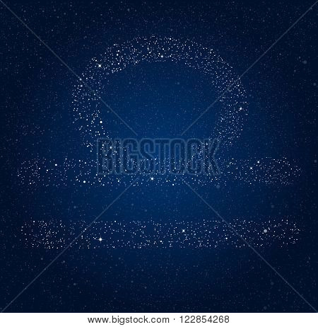 Vector astrological sign of the Zodiac. Horoscope against the starry sky.