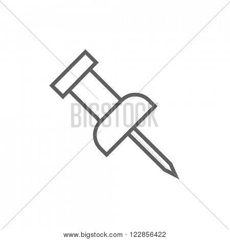 Pushpin line icon.