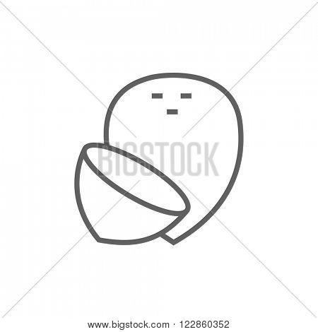 Coconut line icon.