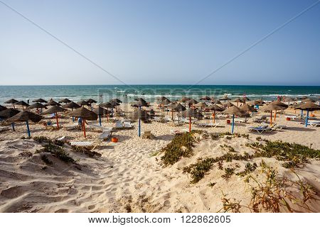 Tunisian Beach In Luxury Hotel