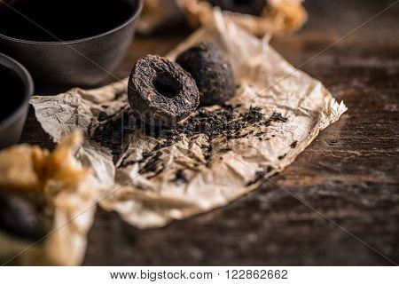 Pu Erh Tea Leaves