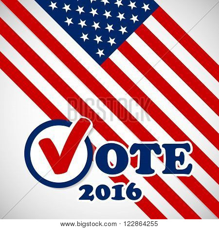 Presidential election in the USA 2016 - banner template