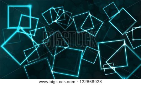 Vector colorful background with plasmatic effect and squares