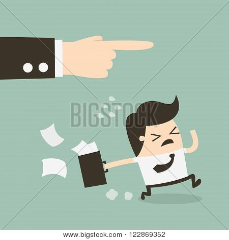 The employee and the employer Boss dismissing an employee
