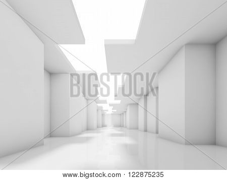 3D Abstract Modern Interior Design With Corners