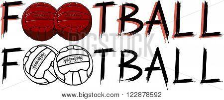 soccer ball - vintage or old school vector ball