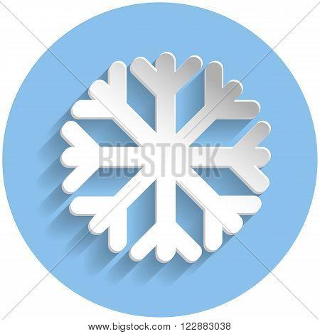 Snowflake Icon, Paper Style
