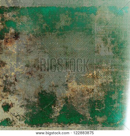 Retro style grunge background, mottled vintage texture. With different color patterns: green; yellow (beige); brown; gray; cyan