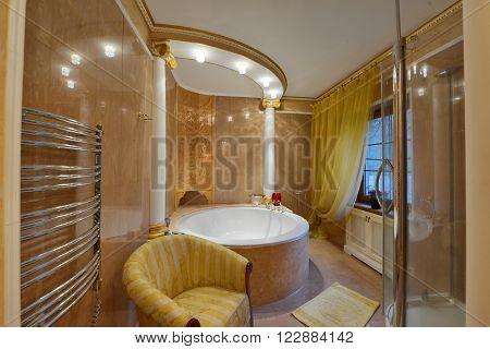 interior design stylish bathroom luxury country house