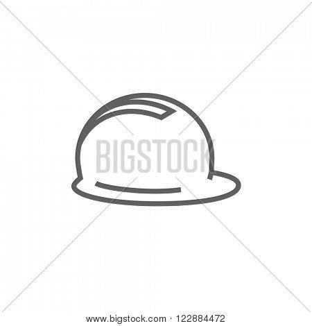 Hard hat line icon.