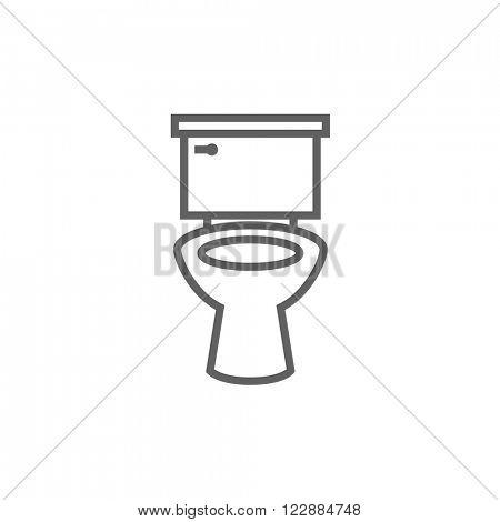 Lavatory bowl line icon.