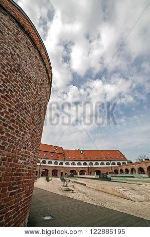 TIMISOARA ROMANIA - MARCH 20 2016: Panoramic view of the bastion Maria Theresia from Timisoara Romania.